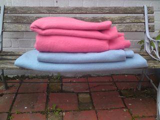Blankets before dye