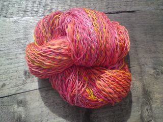 Finished skein - liquid sunshi