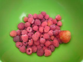 Green raspberries