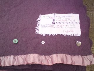 Blanket with buttons