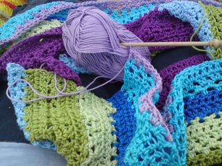 Progress on crochet blanket
