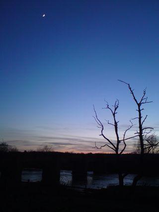 Moon above the bridge